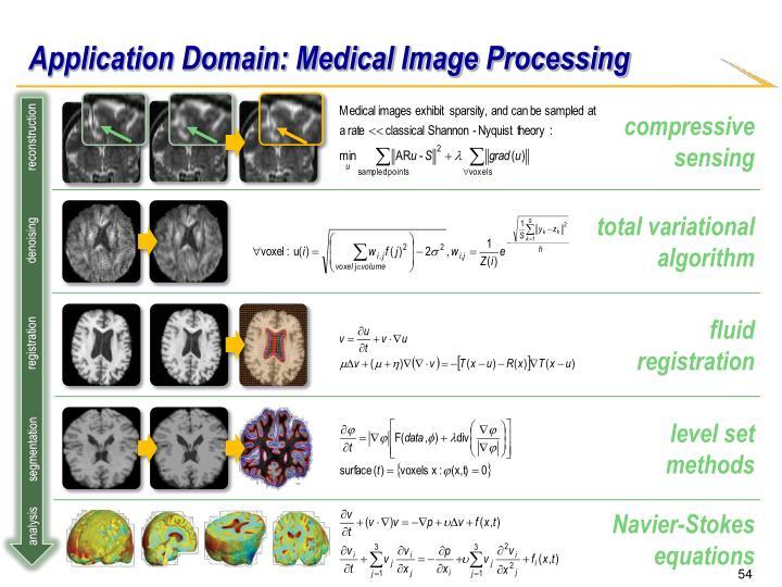 Application Domain: Medical Image Processing