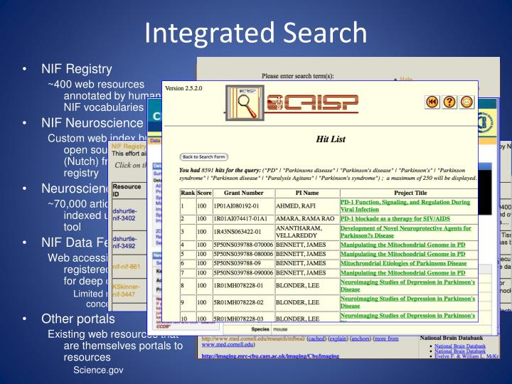 Integrated Search