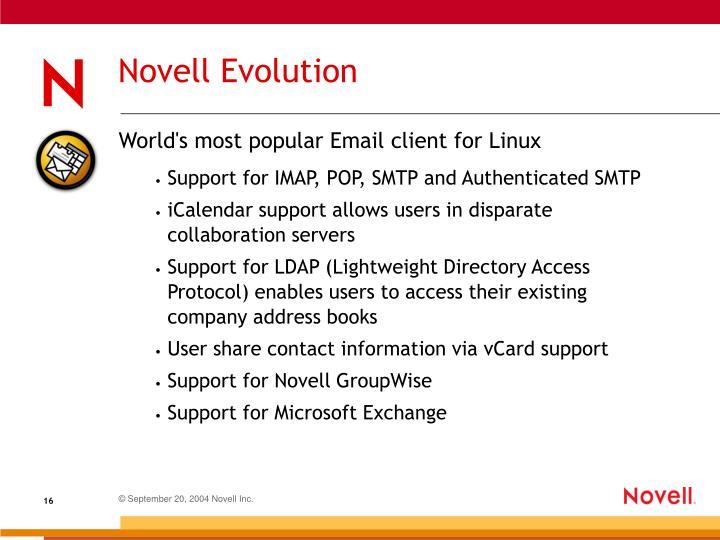 Novell Evolution