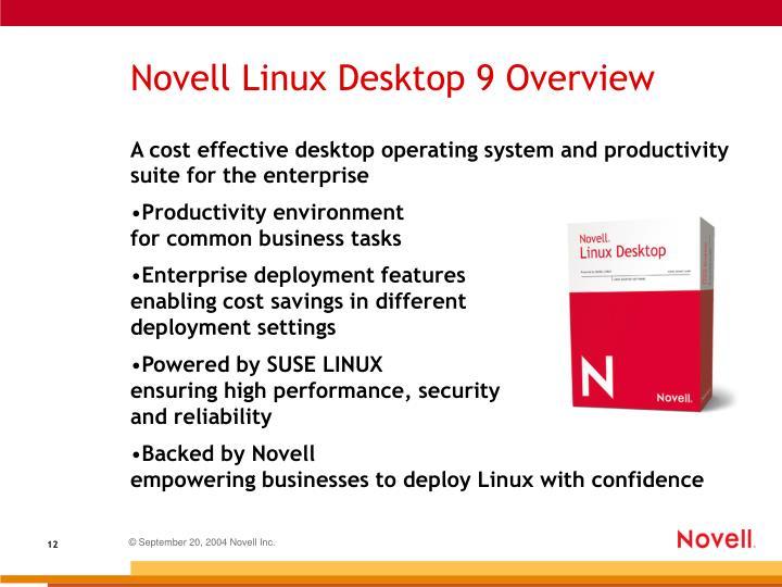 Novell Linux Desktop 9 Overview