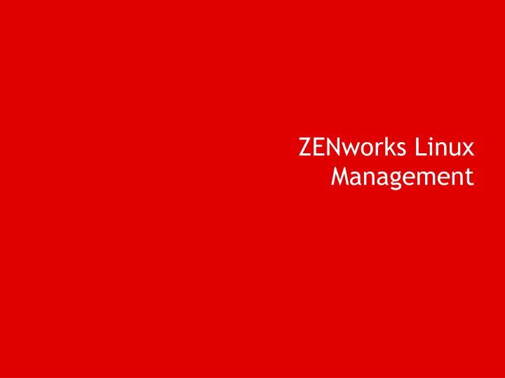 ZENworks Linux Management