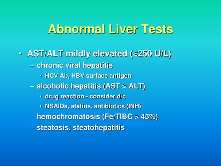 Abnormal Liver Tests
