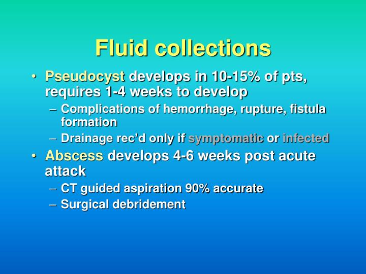 Fluid collections