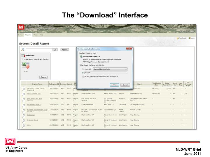 """The """"Download"""" Interface"""