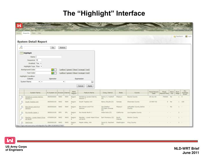 """The """"Highlight"""" Interface"""