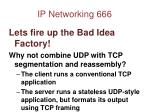 ip networking 666