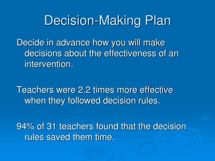 Decision-Making Plan