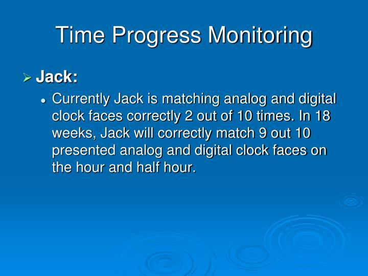 Time Progress Monitoring