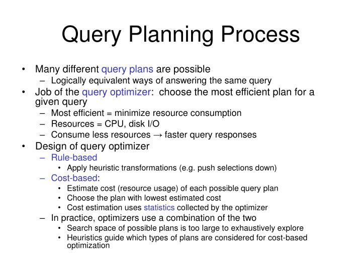 Query Planning Process