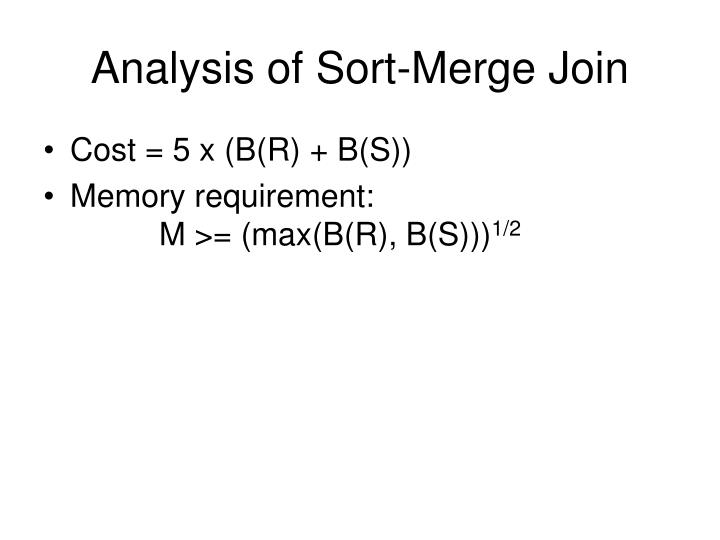 Analysis of Sort-Merge Join