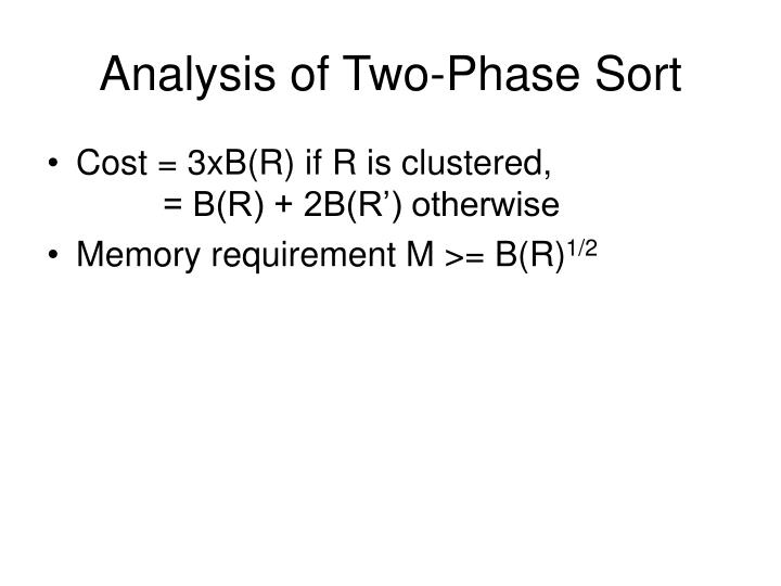 Analysis of Two-Phase Sort