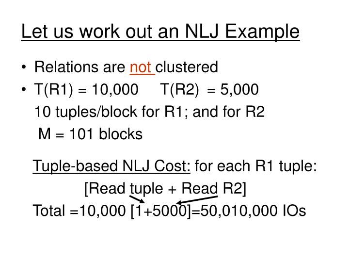 Tuple-based NLJ Cost:
