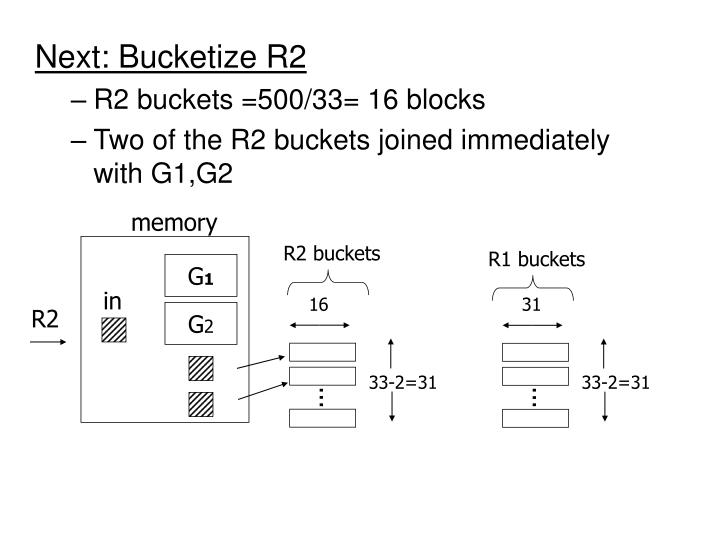 Next: Bucketize R2