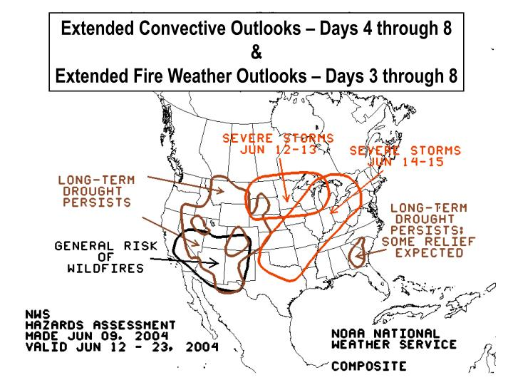 Extended Convective Outlooks – Days 4 through 8