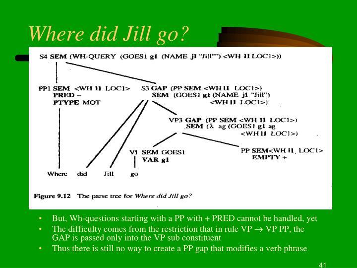 Where did Jill go?