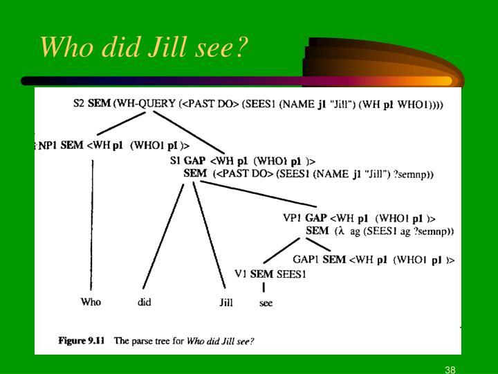Who did Jill see?