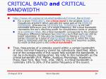 critical band and critical bandwidth