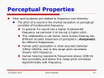 perceptual properties