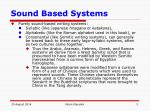 sound based systems
