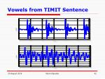 vowels from timit sentence
