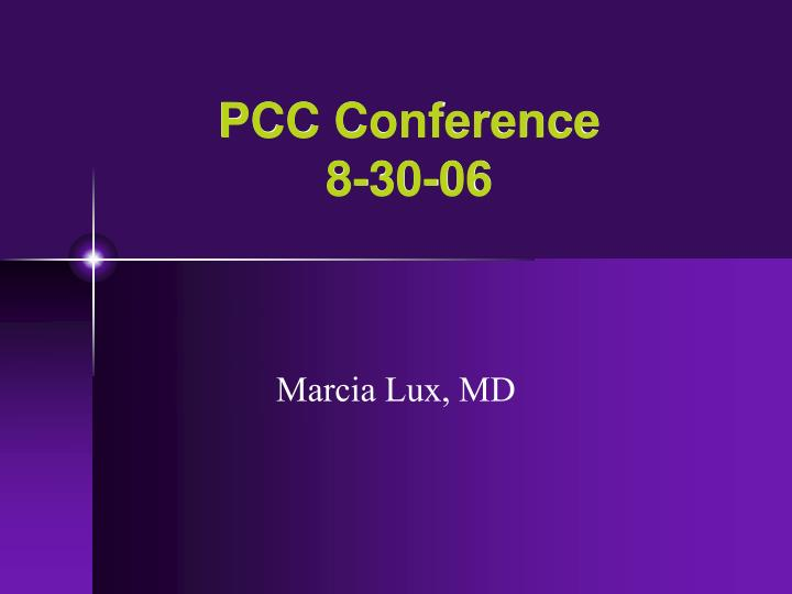 pcc conference 8 30 06