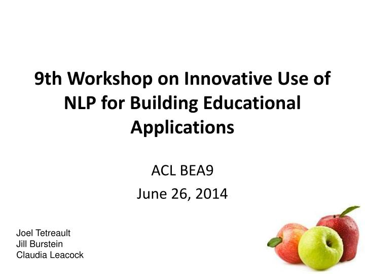 9th workshop on innovative use of nlp for building educational applications n.