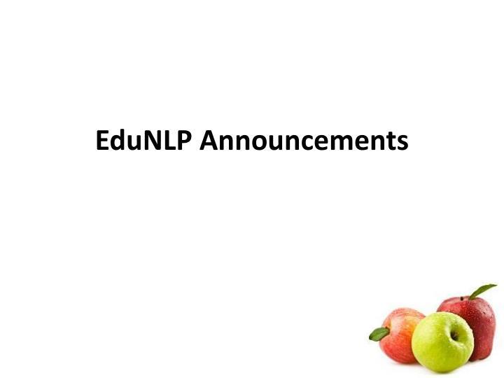 EduNLP Announcements