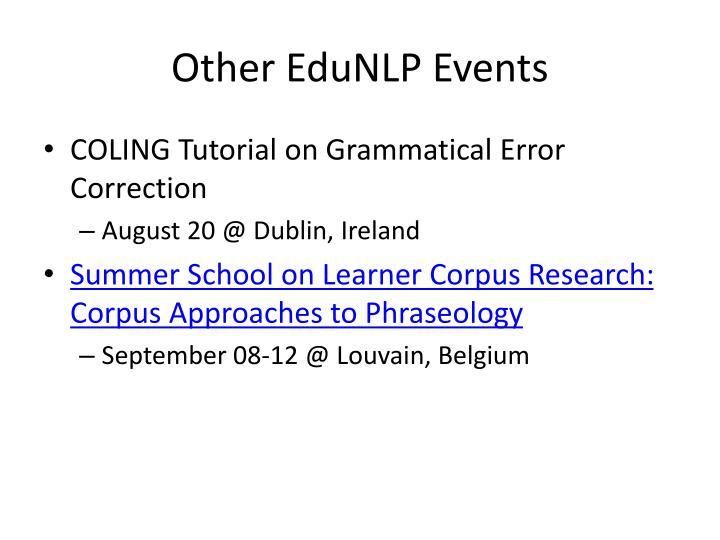Other EduNLP Events