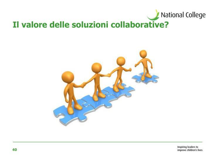 Il valore delle soluzioni collaborative?