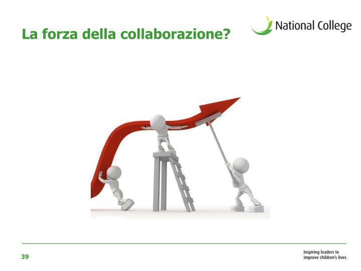 La forza della collaborazione?