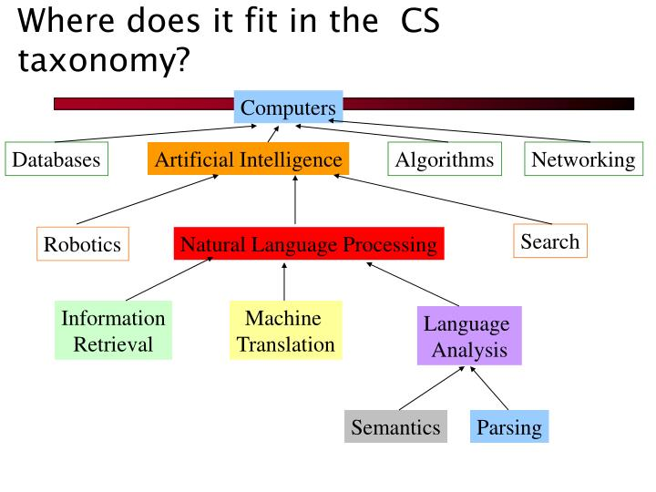 Where does it fit in the  CS taxonomy?