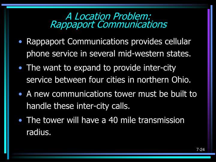 A Location Problem: