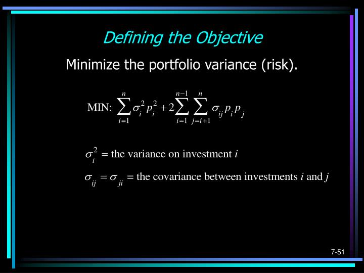 Defining the Objective