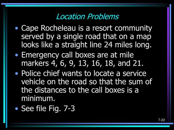 Location Problems