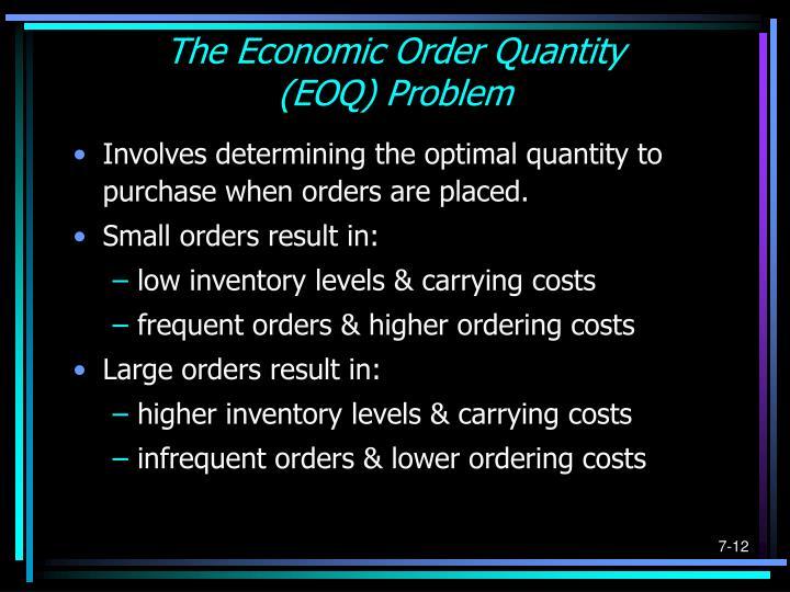 The Economic Order Quantity