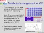 distributed entanglement for qc