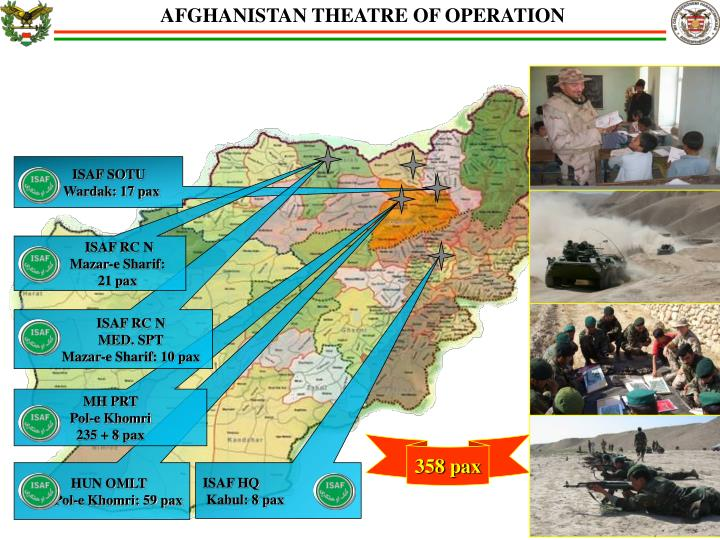 AFGHANISTAN THEATRE OF OPERATION