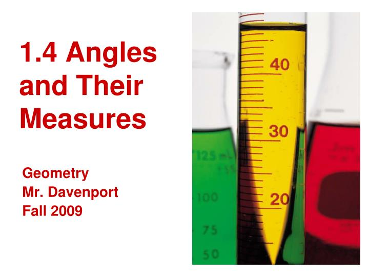 1 4 angles and their measures