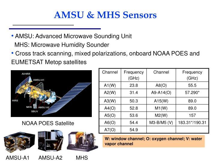 Amsu mhs sensors