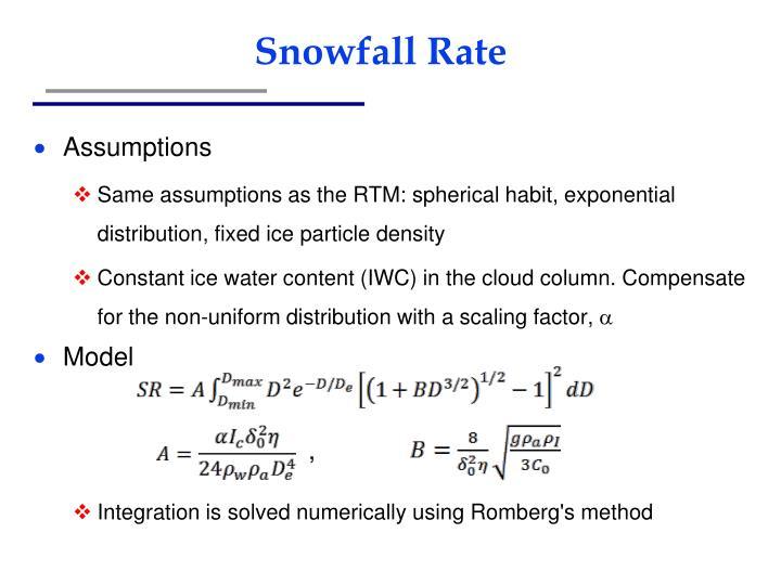Snowfall Rate