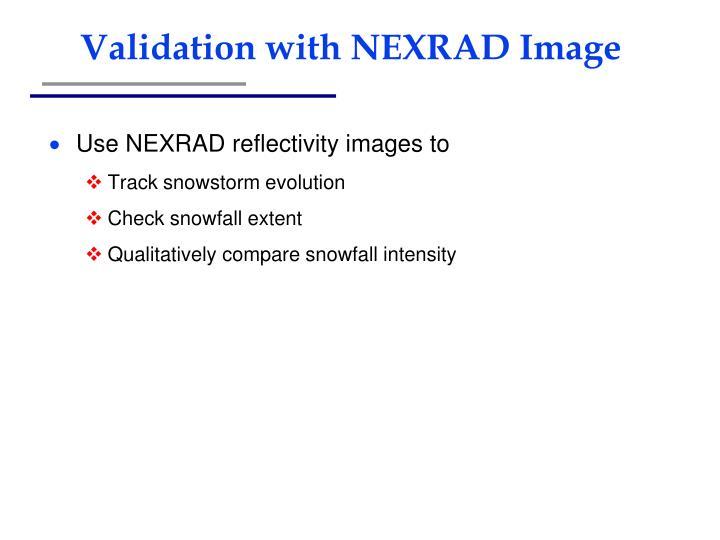 Validation with NEXRAD Image