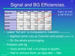 signal and bg efficiencies1