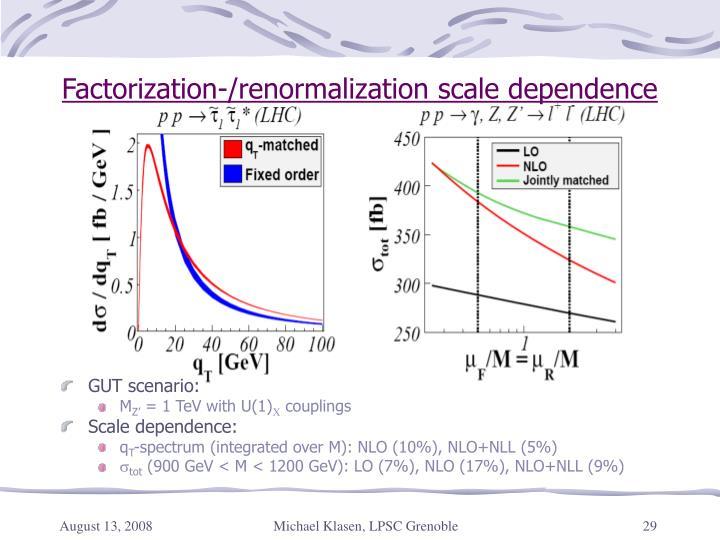 Factorization-/renormalization scale dependence