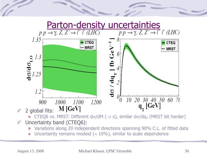 Parton-density uncertainties