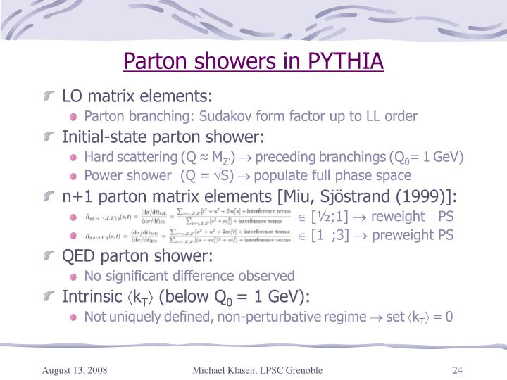 Parton showers in PYTHIA