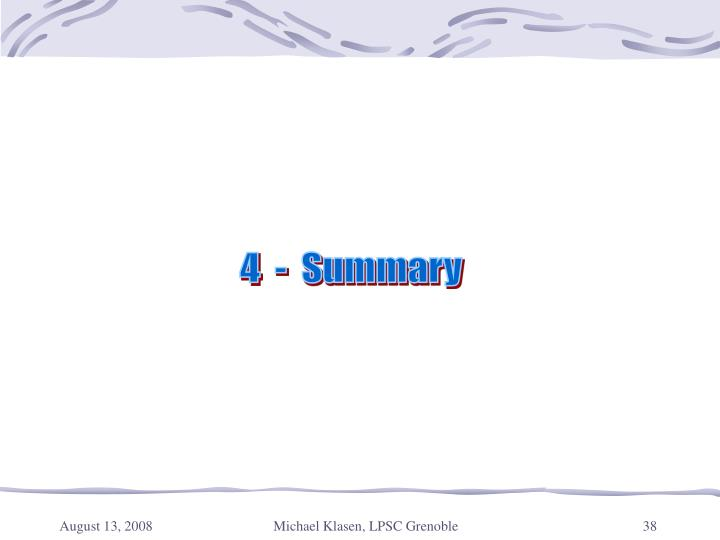 4  -  Summary