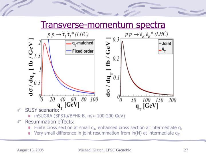 Transverse-momentum spectra