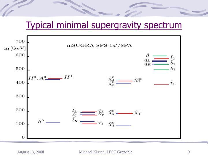 Typical minimal supergravity spectrum