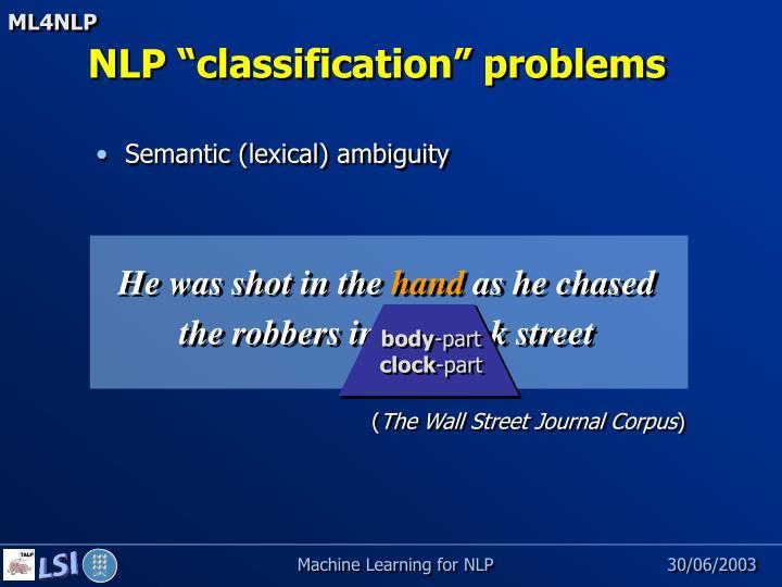 Semantic (lexical) ambiguity