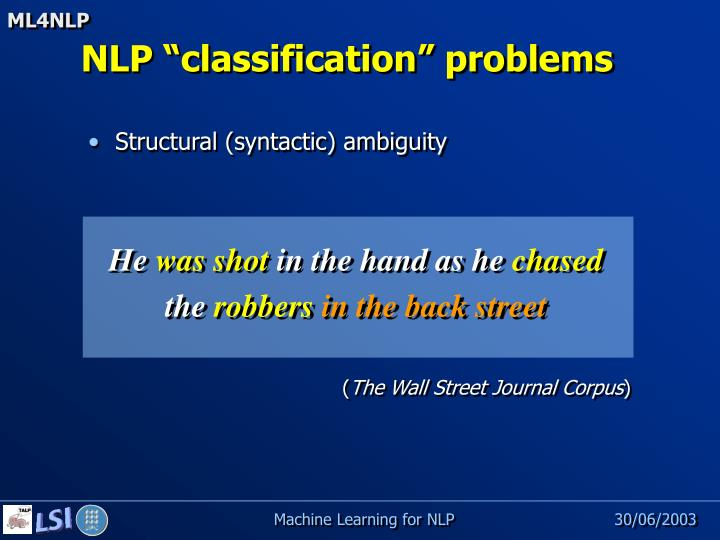 Structural (syntactic) ambiguity